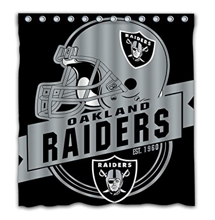 Image Unavailable Not Available For Color Felikey Custom Oakland Raiders Waterproof Shower Curtain