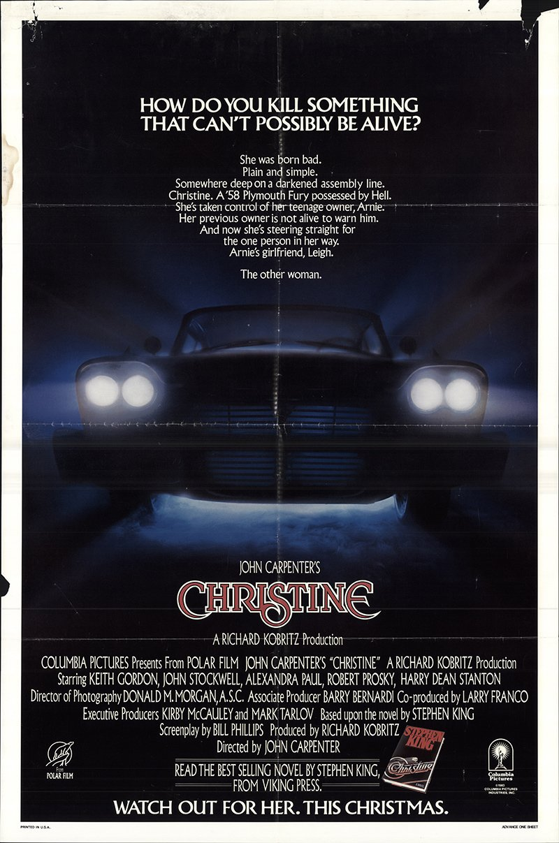 Christine 1983 Authentic 27 X 41 Original Movie Poster