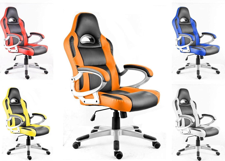 POLIRONESHOP MONZA Silla de oficina giratoria sillón estudio gaming racing