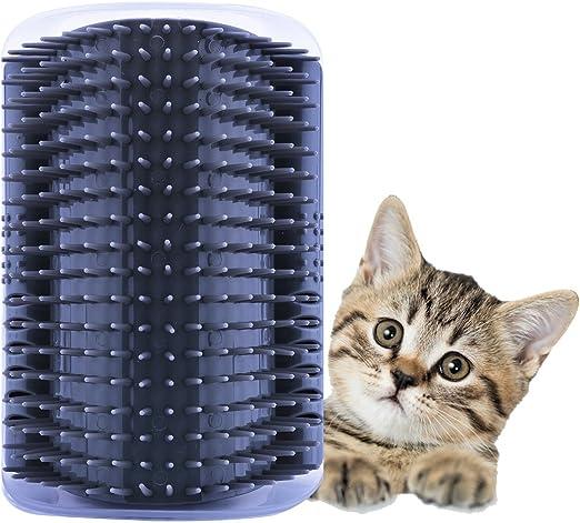ADESUGATA Cepillo Para Mascotas,Peine Gatos,Cepillo de Eliminación de Pelo Para Mascotas,Gatos Para Mascotas Eliminación de Pelo Masaje Gatito Esquina Peine Cepillo (Gris): Amazon.es: Productos para mascotas