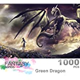 Ingooood- Jigsaw Puzzle 1000 Pieces for Adult- Fantasy Series- Dragon Series Puzzles Entertainment Wooden Puzzles Toys (Green