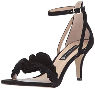 STEVEN by Steve Madden Women's Vexen Dress Sandal, Black Nubuck, ...