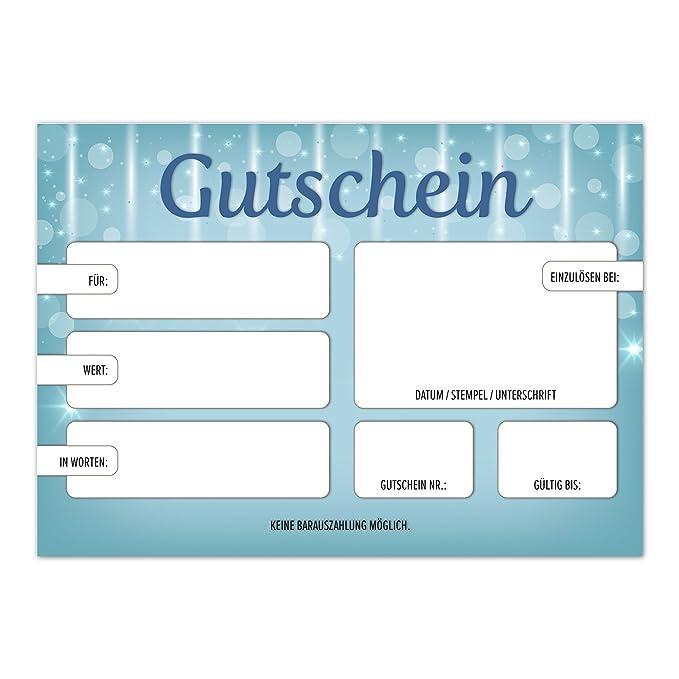Zauberhafter Verlauf,A6 30 moderne Geschenk-Gutscheine für Kunden mit Umschlag