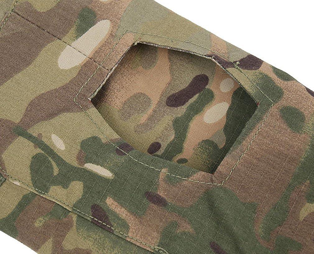 emansmoer Herren Stehkragen Langarm 1//4 Zip Pullover Tops Armee Milit/är Combat Taktisch Outdoor Sport Quick Dry T-Shirt Tee