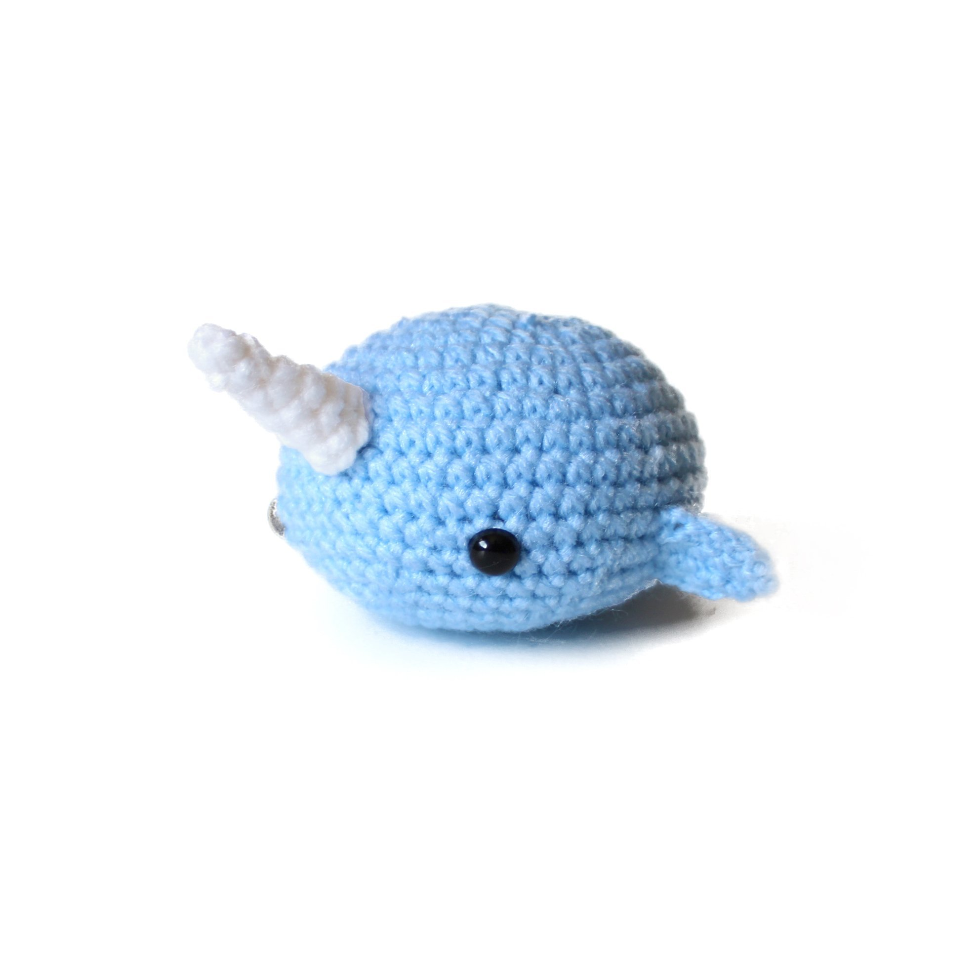 Amigurumi crochet narwhal stress ball by Geekirumi! - Squeeze anti stress/anxiety - Hand therapy toy