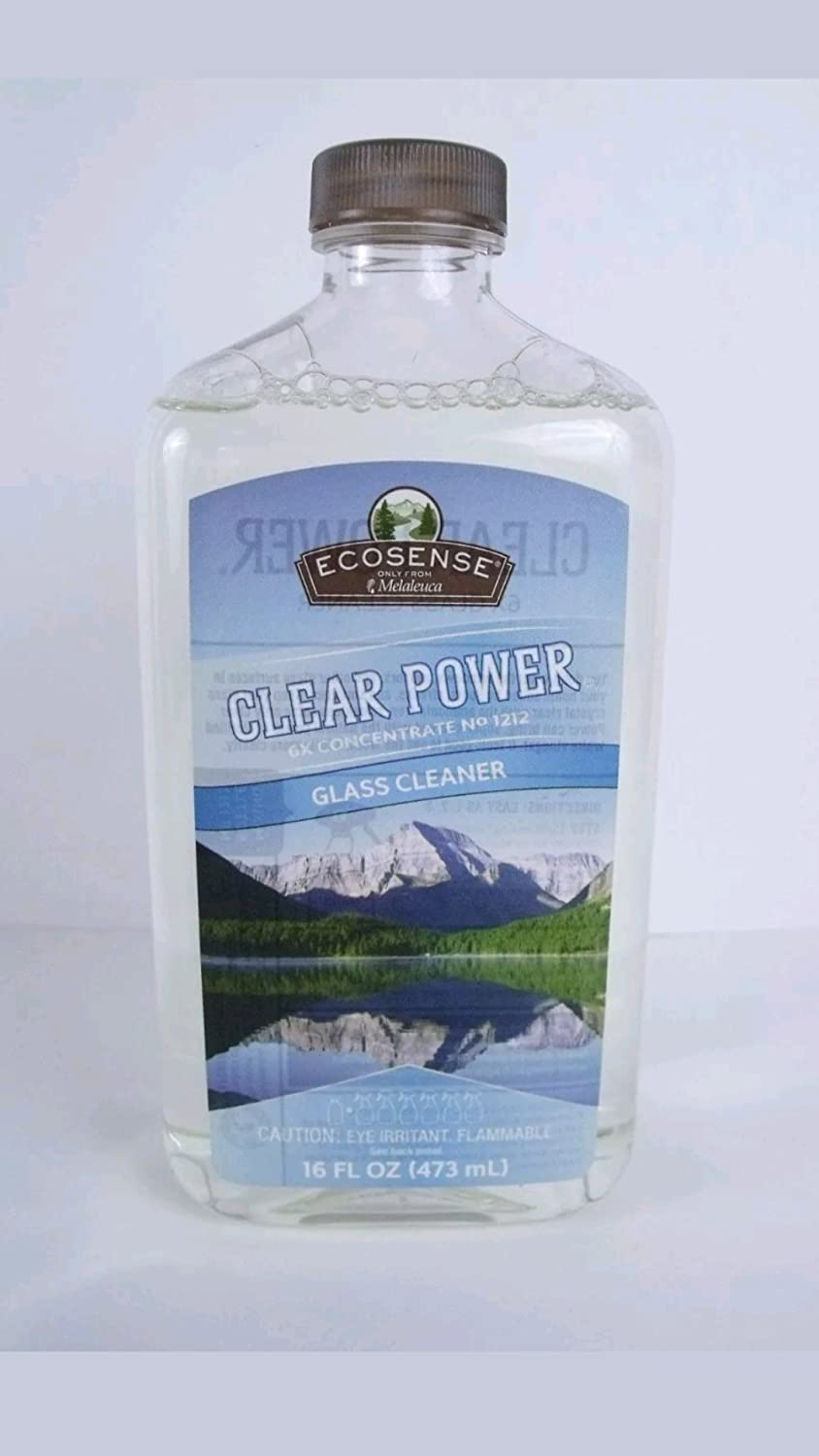 Clear Power Glass Cleaner - 12x Concentration - 8 ounce
