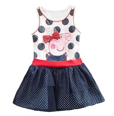 3640f436c21f Peppa Dress Tutu Birthday Dress Vestido Peppa Pig Girls Party Dress (2-3T)