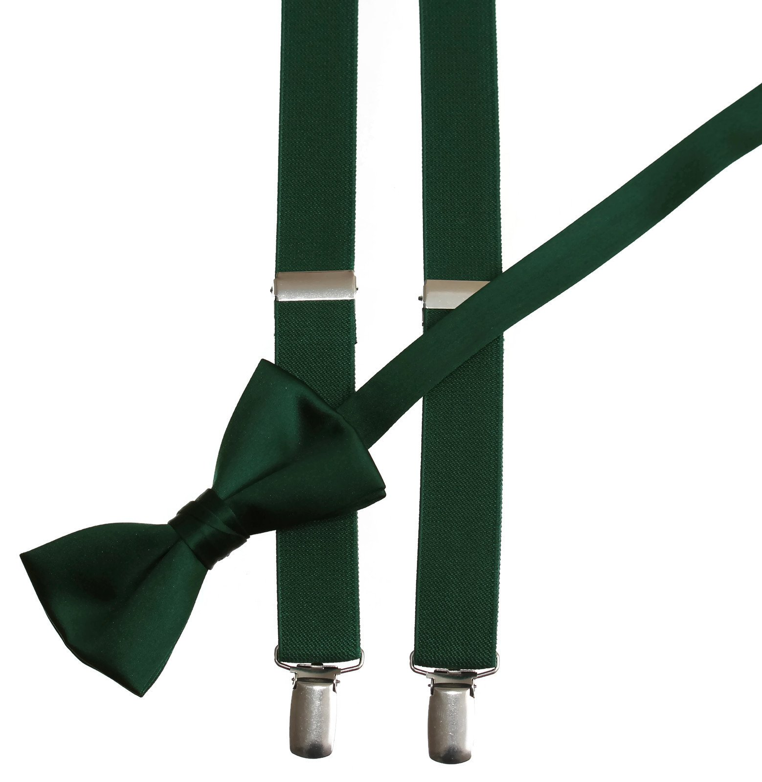 Matching Forest Adjustable Suspender and Bow Tie Sets, Kids to Adults Sizing (50'' Adults Ages 16-up)