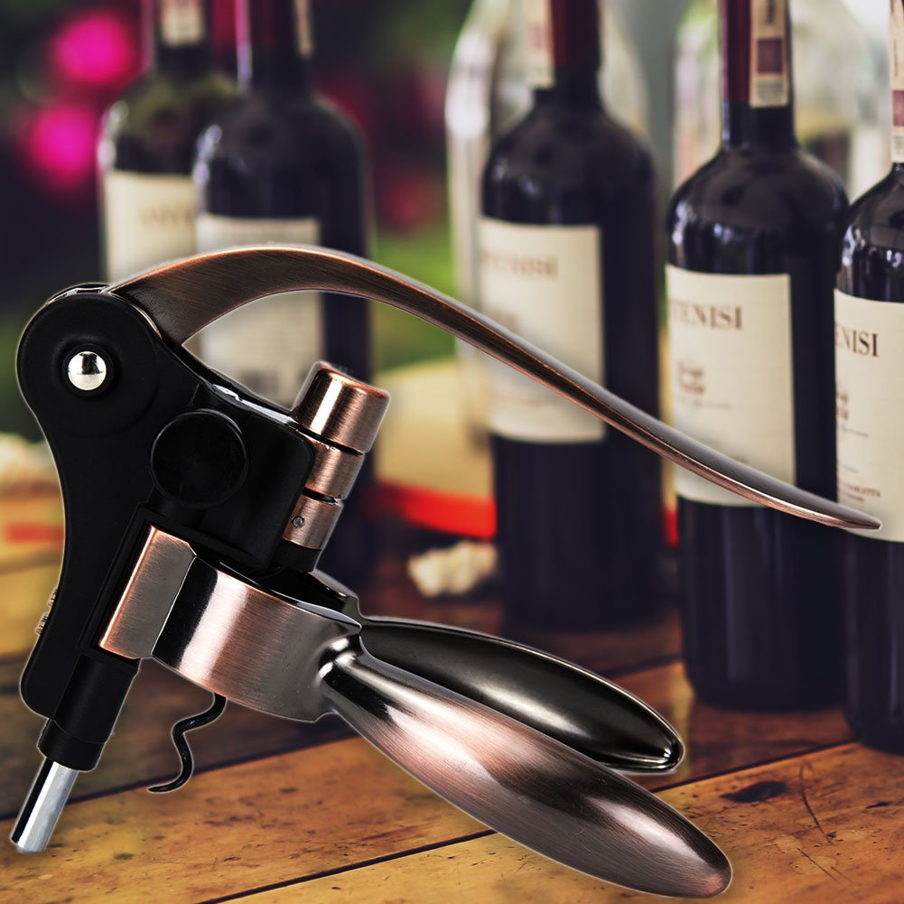 Best   Wine Bottle Opener Corkscrew Set With Foil Cutter and Extra Screwpull, Unique Gift Idea For Women, Men, Her, Him, Anniversary, Birthday, Christmas, Couples, Friendship (Golden) by Centh (Image #10)