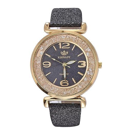 Womens Watch,Fashion Crystal Stainless Steel Bracelet Bling Analog Quartz Ladies Watch Axchongery (Black