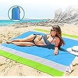 "OKEECA Sand Free Beach Mat Oversized 82"" X79"" Sand Proof Beach Blanket Outdoor Picnic Mat for Travel, Camping, Hiking…"