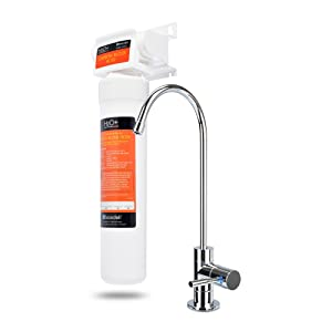 Brondell UC100 H2O+ Coral Single-Stage Under counter Water Filtration System with Over 99% Lead Reduction, Chrome