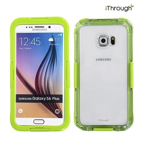 Galaxy S6 Edge Plus Funda Impermeable, iThrough™ Galaxy S6 Edge Plus Carcasa Impermeable, Prueba de Polvo, de Nieve y de Golpe con, Funda Protectora ...