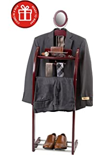 closetmate executive clothes valet stand beautiful solid hardwood valet clothing hanging system with mirror