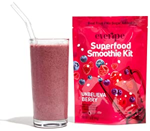 Smoothie Packets for Blender- Everipe Smoothie Kit, Vegan, Fruit, Beet Root Powder, Hemp Hearts, Chia Seeds, Unbelievaberry (Pack of 3)