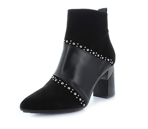 2c7c1990490 Botín HISPANITAS Mujer Ante Negro Tacón HI87587: Amazon.es: Zapatos y  complementos