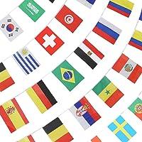 ANLEY Strängflagga för 2018 års VM, gruppmatch 32 lag Länder Fotbollsdekorationsbannrar för restauranger, sportbarer…