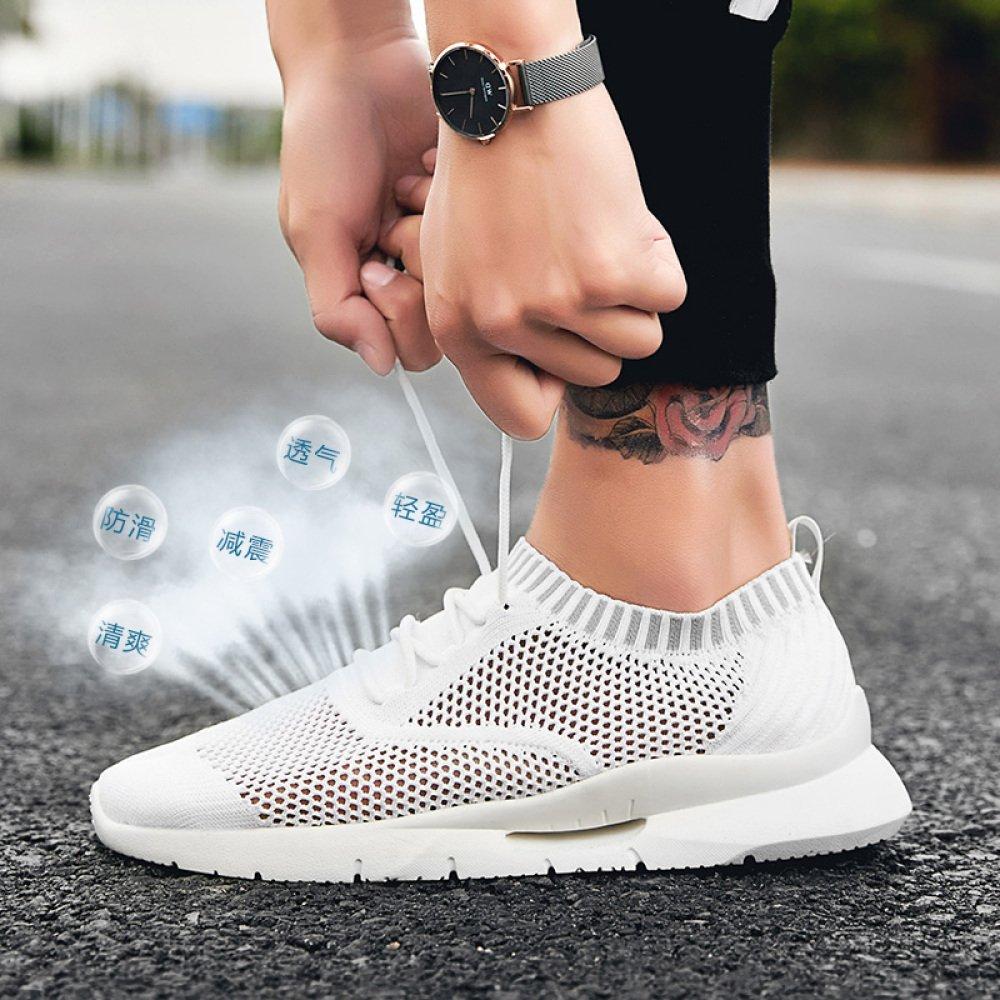 Sommer Herrenschuhe Neue Männer Atmungsaktive Trendige Sportschuhe Trendige Atmungsaktive Weiße Schuhe Mesh-Schuhe Bequeme Wilde Schuhe da132a