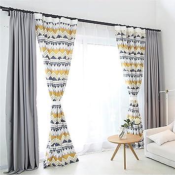 Clichtg Geometrische Muster Vorhang Nordischer Stil Vorhange Schwebenden Fur Wohnzimmer Schlafzimmer Kinderzimmer 210 X 140cm