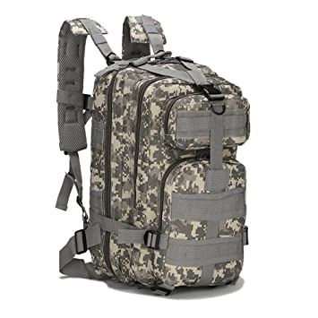 Eyourlife Mochila Militar Táctica Molle para Acampada Camping Senderismo Deporte Backpack de Asalto Patrulla para Hombre Mujer 20L - ACU Camo: Amazon.es: ...