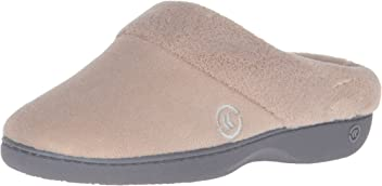 Women's Terry Slip On Cushioned Slipper with Memory Foam for Indoor/Outdoor Comfort and Arch Support