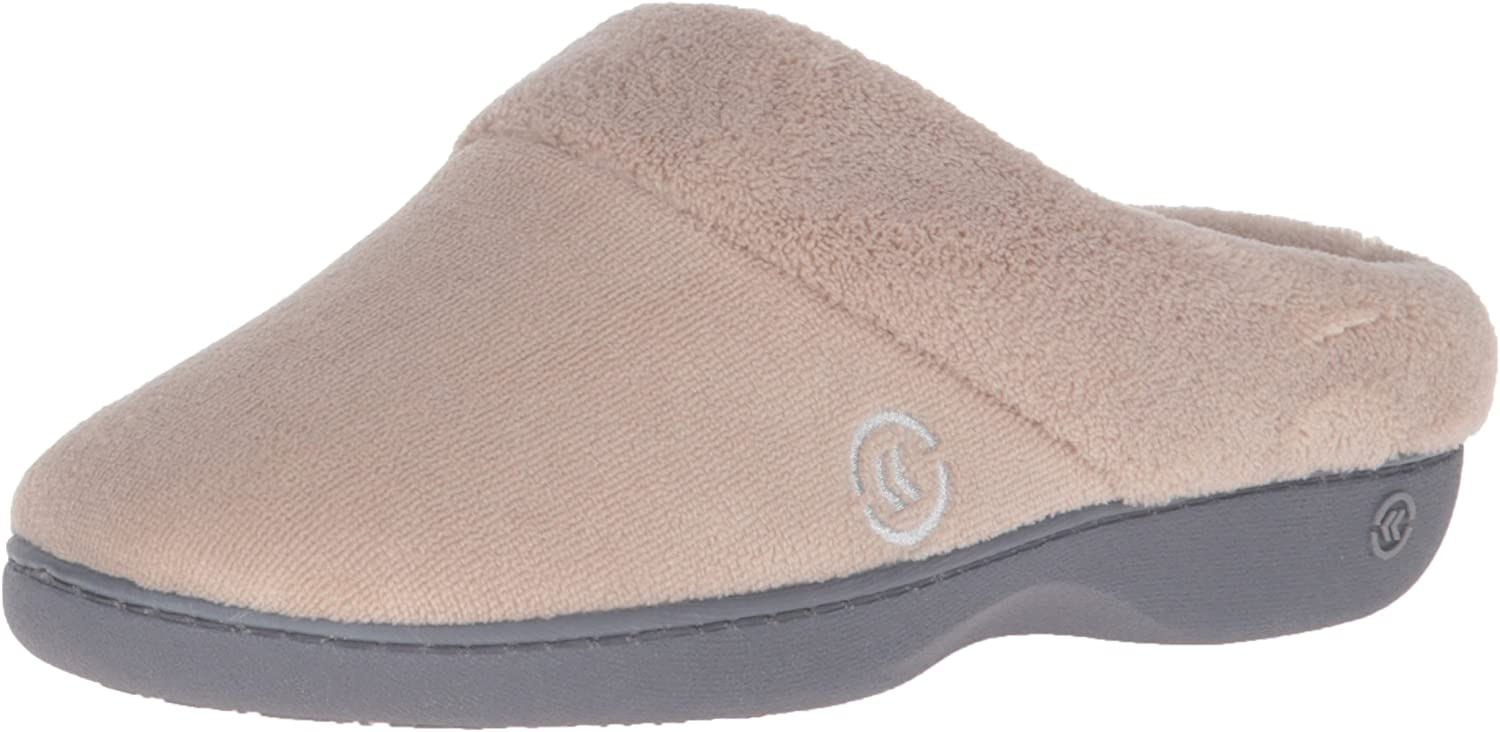 isotoner Women's Terry Slip In Clog, Memory Foam, Comfort and Arch Support, Indoor/Outdoor