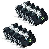 KCMYTONER 8 PK Compatible for Brother Laminated Black on White TZe261 TZ261 TZ-261 TZe 261 TZ 261 Label Tape 36MM Wide x 8m Length 1 1/2 Inch for p Touch PT-3600 PT-530 PT-550 PT-9200DX Printer
