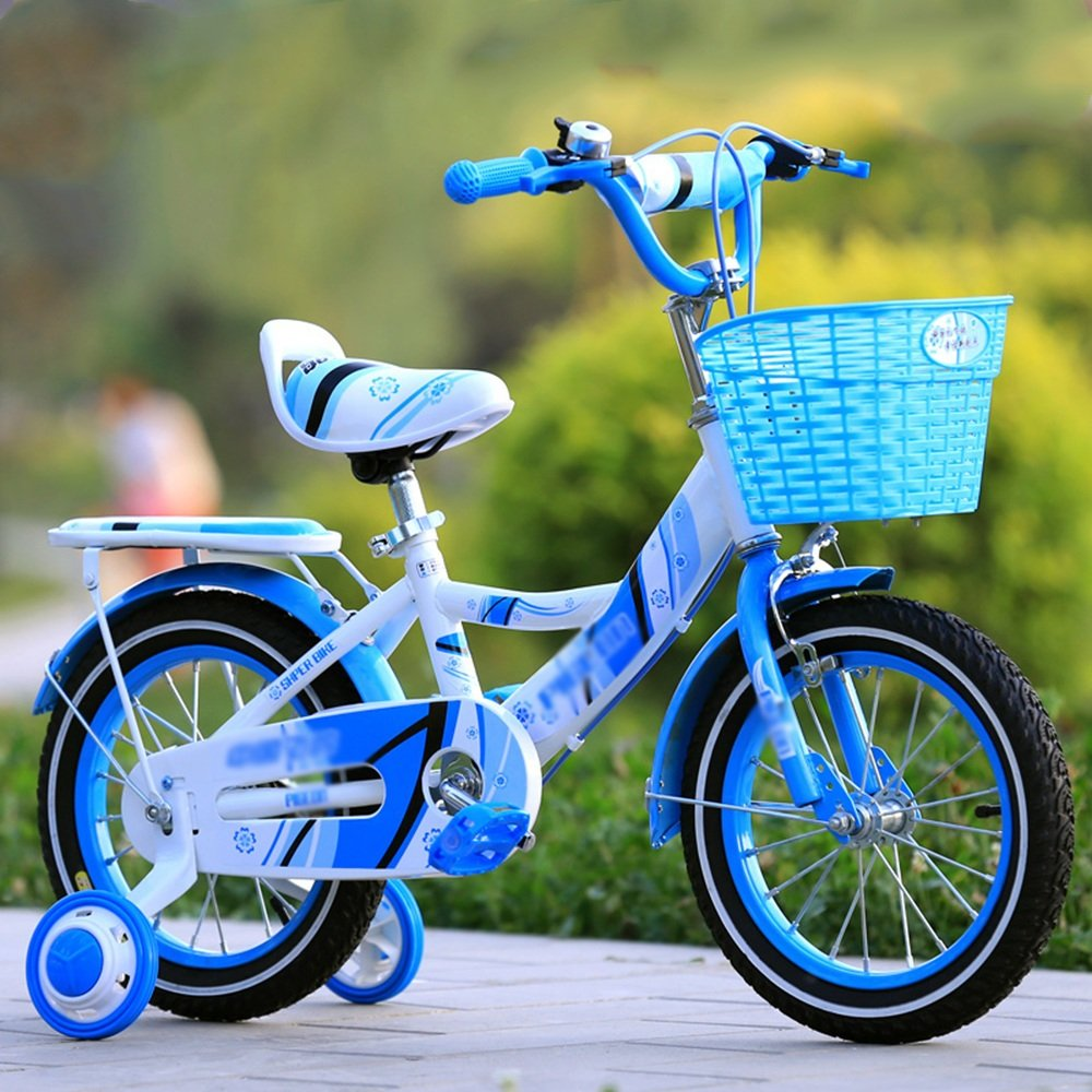 Kids Bicycles Meiduo Girl 's Bike withバスケット、12、14、16、または18 Inch Girls Bike withトレーニングWheels、子供のためのギフト、Girls ' Bicycles B07FJMP2NF 12 inches|ブルー ブルー 12 inches