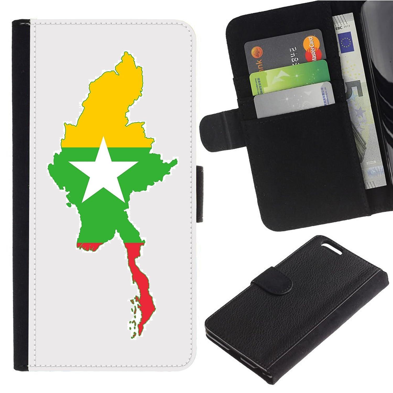 Amazon com: [Map and Flag of Myanmar] for Motorola Z2 Force/Moto Z2