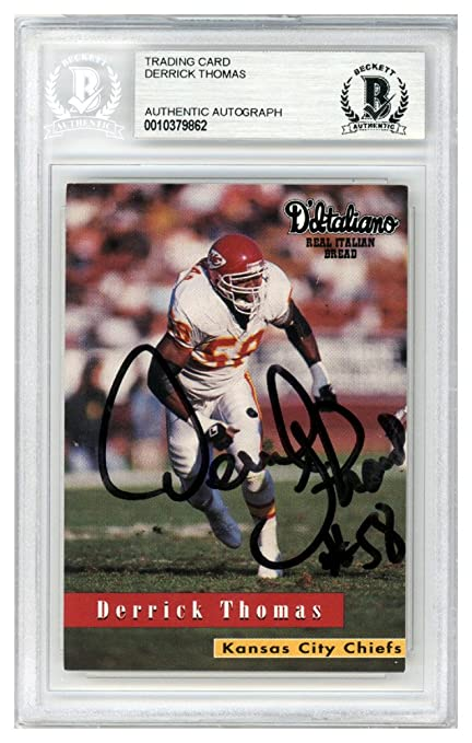 0fb28634ce7 Derrick Thomas Autographed Signed 1996 D Italiano Card Kansas City Chiefs -  Beckett Authentic