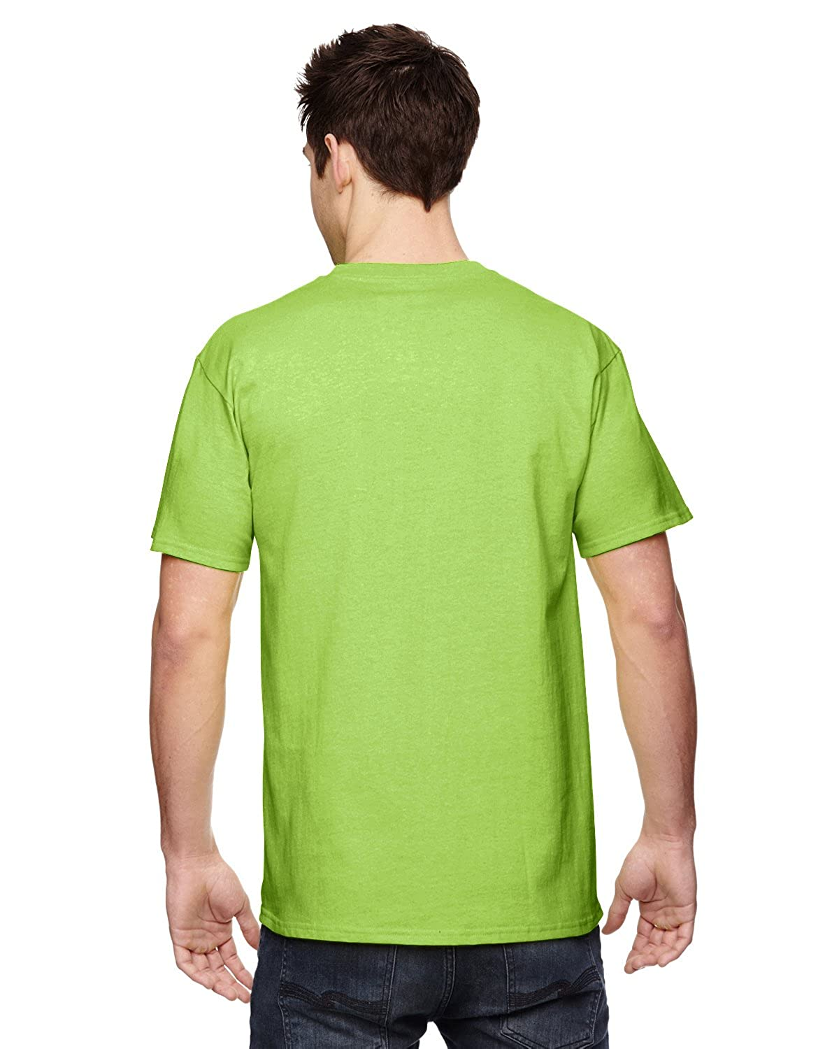 Fruit of the Loom 3930 100/% Heavy Cotton Tee Neon Green 3 Pack