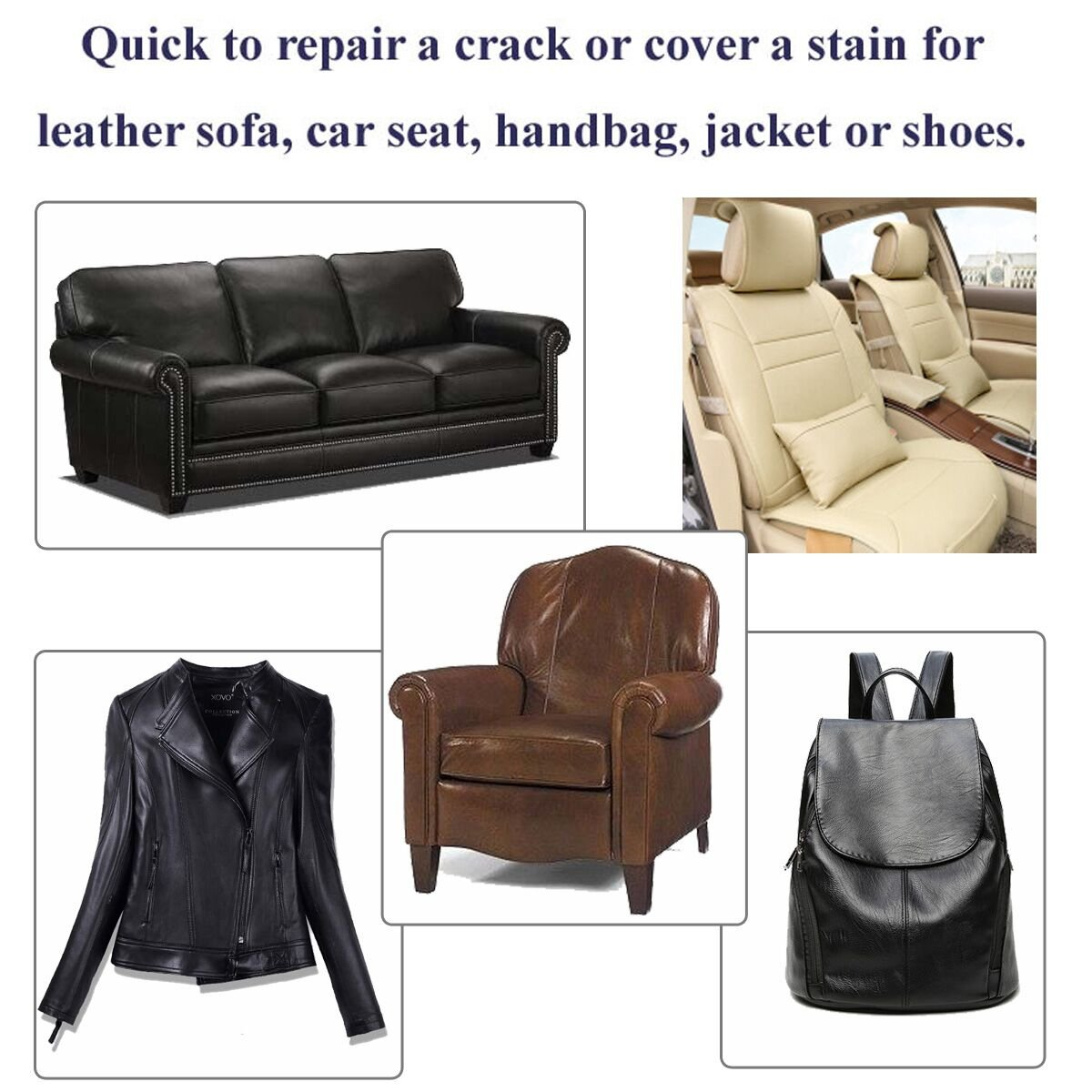 Amazon.com: Leather Patch   Adhesive Backing   Repair Sofa, Car Seat,  Jackets, Shoes And Handbag, 10 Inch By 6 Inch, Black   By Beaulegan