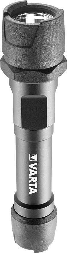 Varta - Linterna Indestructible 1 Watt LED, 170 Lumens, 122m de Alcane, 2x AA Incluidas