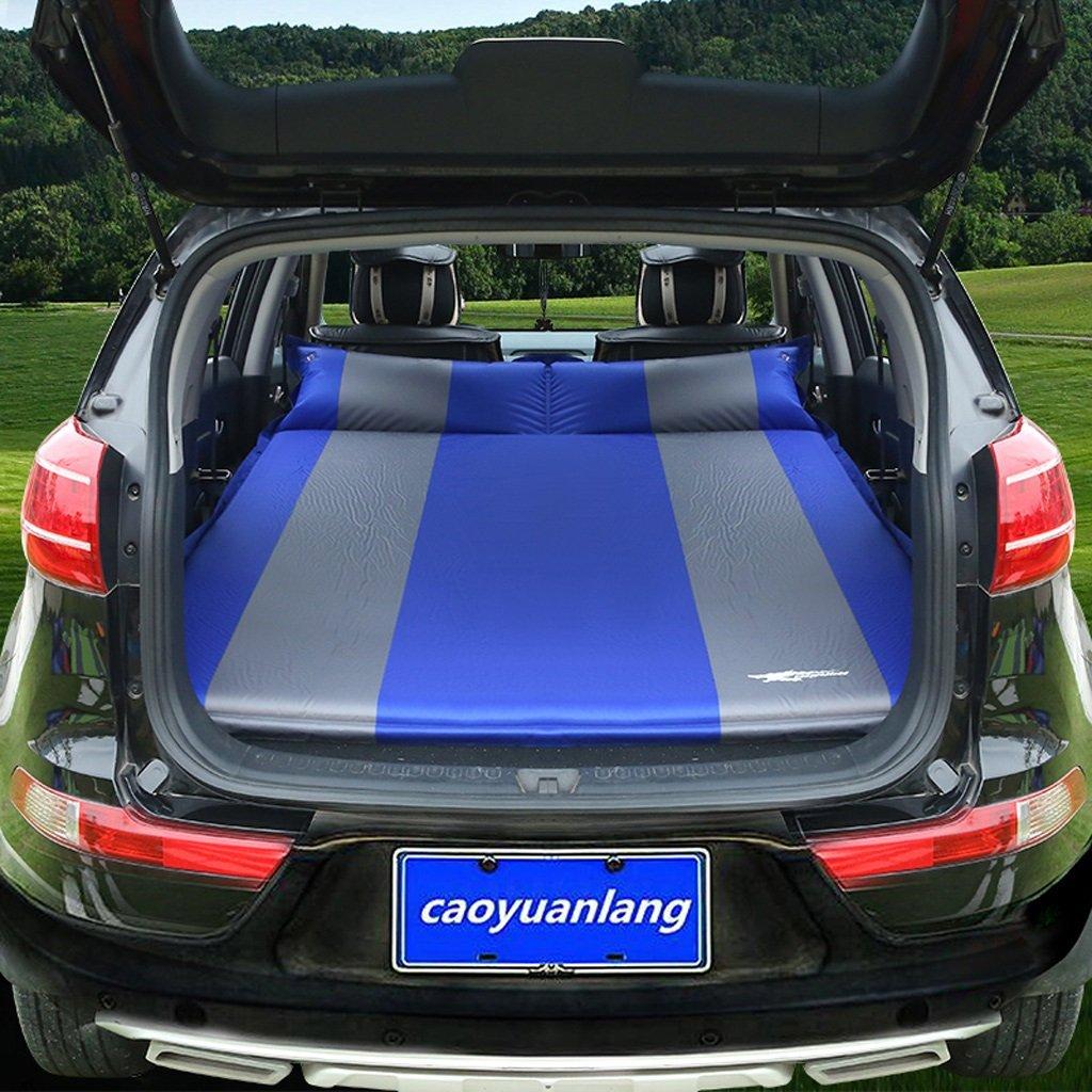 トランクカーインフレータブルマットレスフォールディングトラベルベッドアップグレードモデルフルフィット5 Cmオレンジ(多色オプション) B07FL699C4 Blue Blue