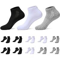 TUUHAW Calcetines de Deporte Mujer Hombre 10 pares Medio Cortos Calcetin Zapatilla Transpirable
