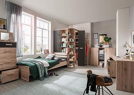 Lifestyle4living Jugendzimmer Komplett Set In San Remo Eiche