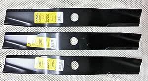 """Set 3 Kubota 72/"""" heavy duty XHT mower blades K5677-34340 K5677-34330"""