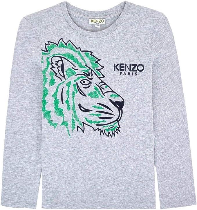 Kenzo Kids Grey Tiger Polo Shirt