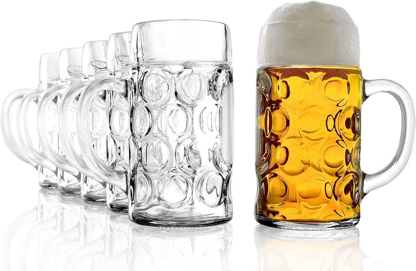 Stölzle Superior de Cristal ISAR 4533808045Jarra de Cerveza (126,5cl, con llenado en 1L, 6Unidades)
