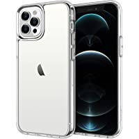 JETech Case for iPhone 12 Pro Max 6.7-Inch, Shockproof Bumper Cover, Anti-Scratch Clear Back, HD Clear