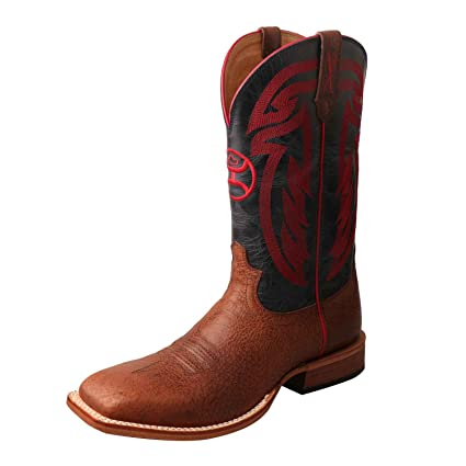 7b3928830d4 Amazon.com: Twisted X Men's Hooey by with Embroidery Boot Square Toe ...