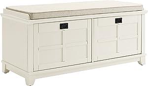Crosley Furniture Adler Entryway Bench - White