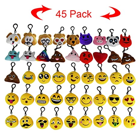 Amazon.com: Emoji Stuff llavero Mini almohadas de caca de ...
