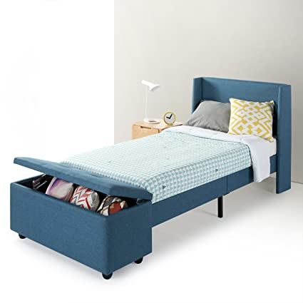Amazon.com: Best Price Mattress Twin Bed Frame - Modern Upholstered ...
