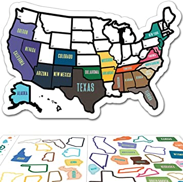 Us Map Decal For Rv Amazon.com: RV State Sticker Travel Map   11