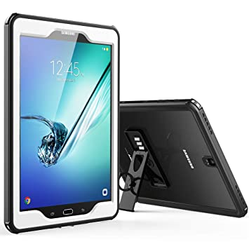 huge selection of 8c618 50f02 Samsung Galaxy Tab S3 9.7 Waterproof Case, Full-Body Rugged Transparent  Cover Built in Screen Protector with Kickstand for Samsung S3 Tablet 9.7  inch