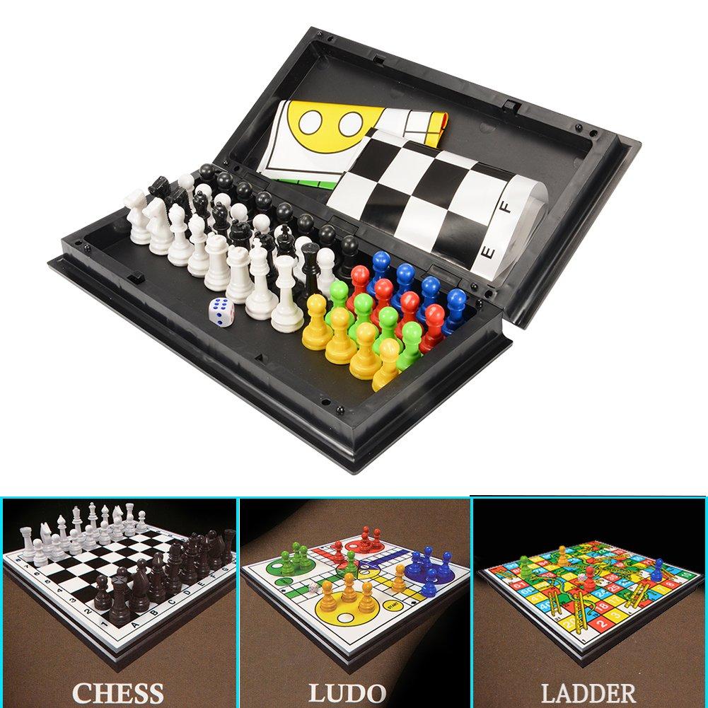 【500円引きクーポン】 Acefun 3-In-1 3-In-1 Game Toy Ladder Game, Chess, Ludo Learning Ludo Ladder and Educational Toys B01M8QSCSH, クロスワーカー:e60dc362 --- cygne.mdxdemo.com