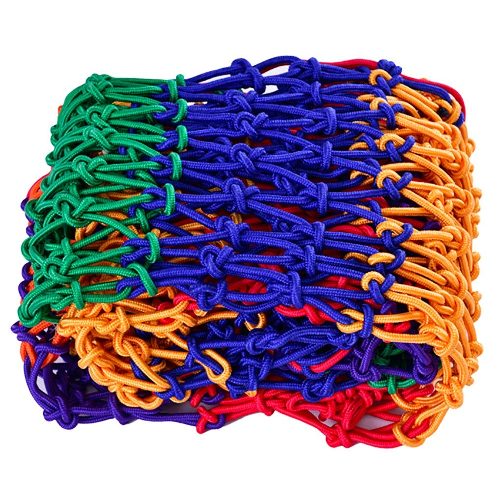 Wlh Protective Net Rope Net, Protective Net Color Decoration Multi-Color Stitching Nylon Net Children Cat Dog Pet Balcony Stairs (Size: 10mm Rope, 8cm Hole) (Size : 27m) by Wlh