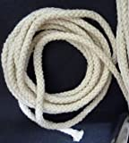 FidgetFidget 10 yds - 100 yds Beige No Dyeing Braid Cotton Cord String Drawstring 3.5mm CC3 10 yds / 9 mts10 yds / 9 MTS