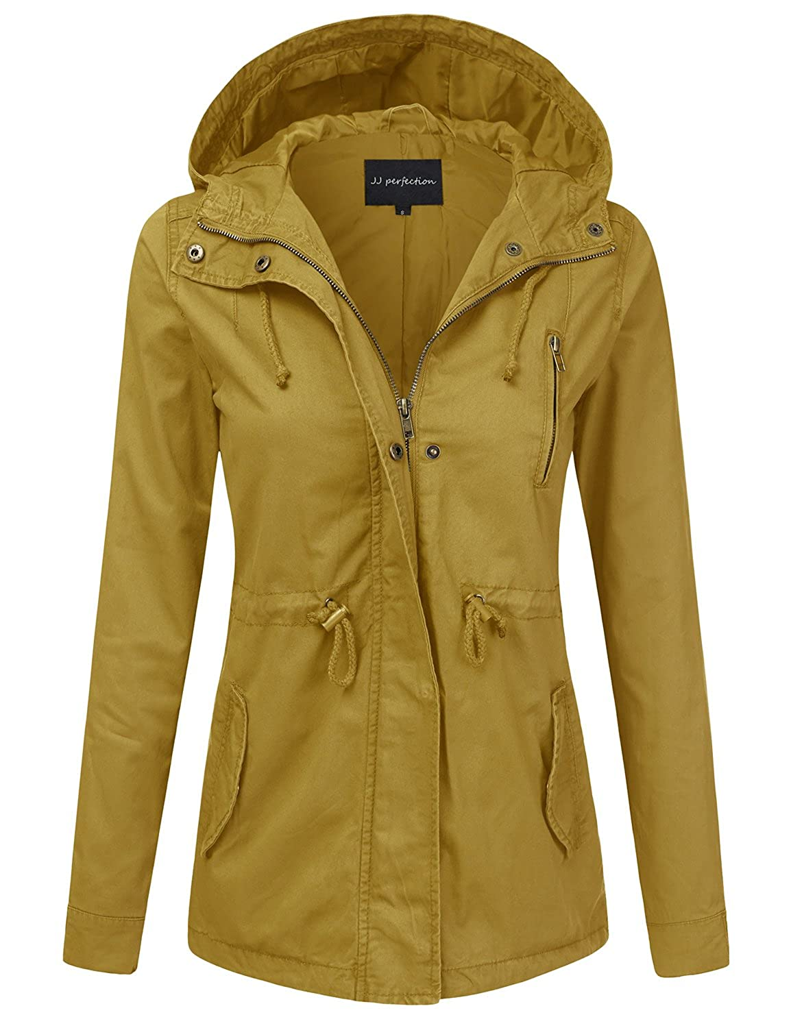 3188f3261d4 JJ Perfection Women's Casual Lightweight Anorak Army Utility Hoodie Jacket:  Amazon.ca: Clothing & Accessories